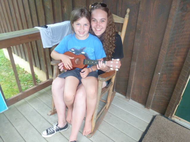 Zoë with one of her campers this summer.