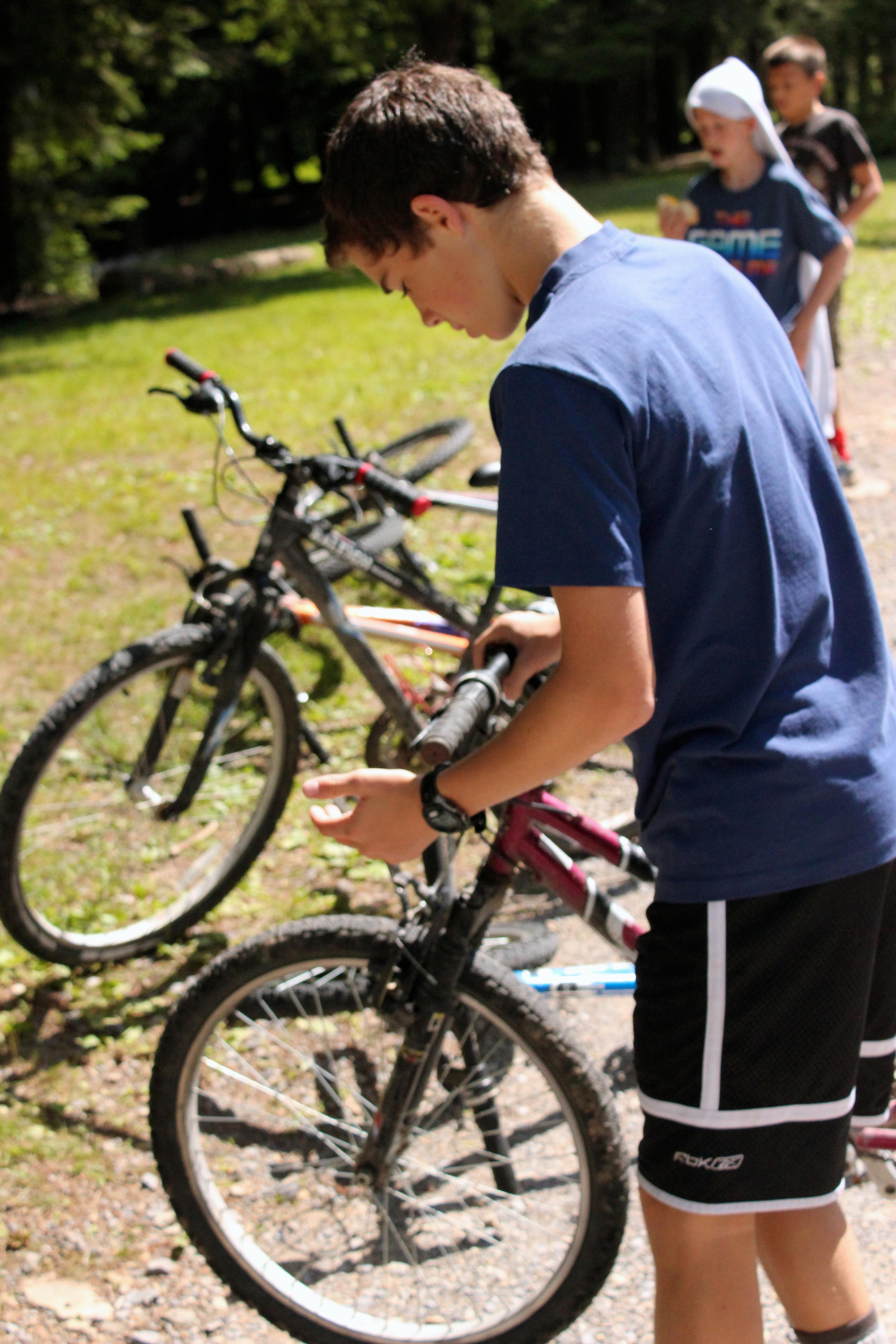 Preparing for Mountain  Biking