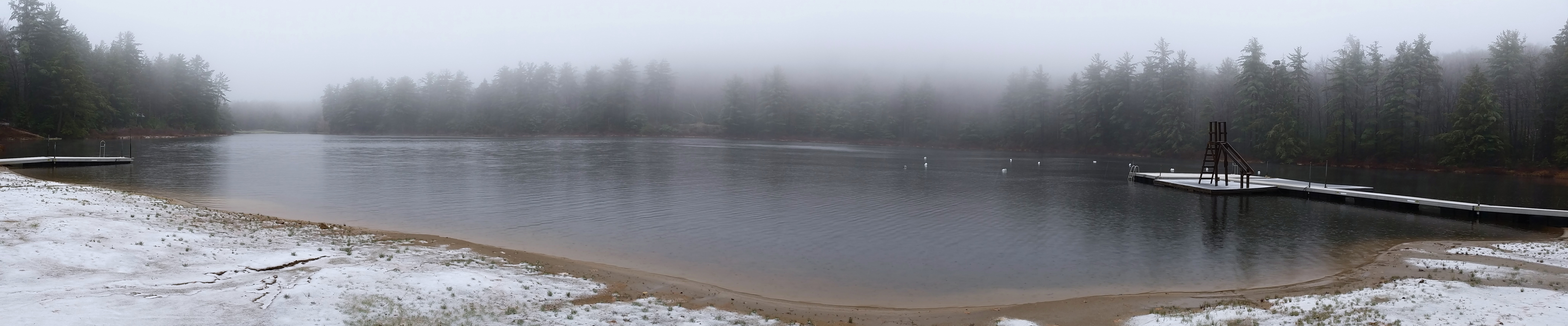 Panoramic of Crystal Lake just the other day