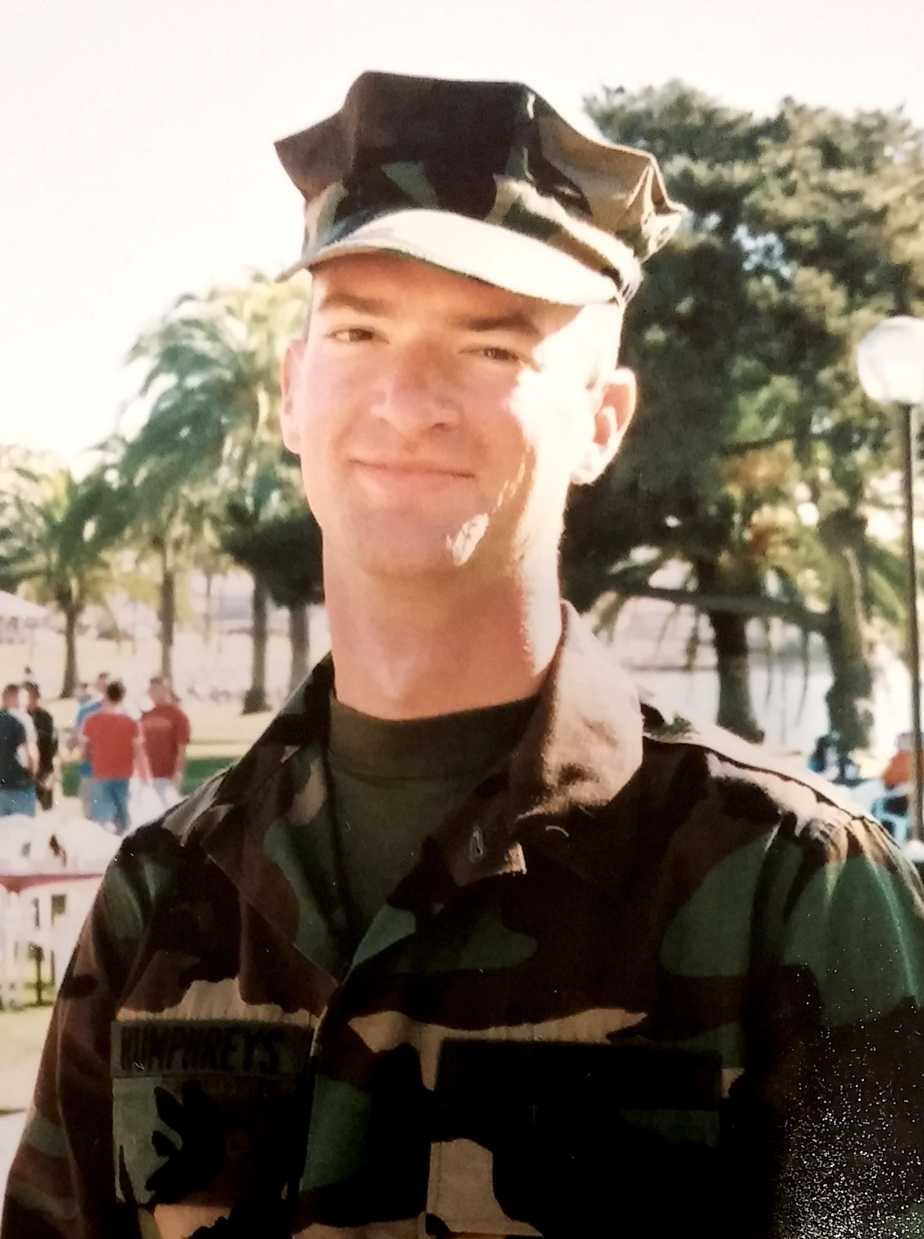 Brian just before graduation at boot camp in 2000.