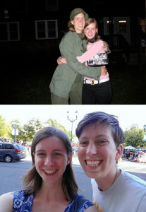 Margaret and Valerie having a reunion (below) from their camp days (above)
