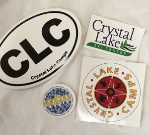 Crystal Lake Camps stickers